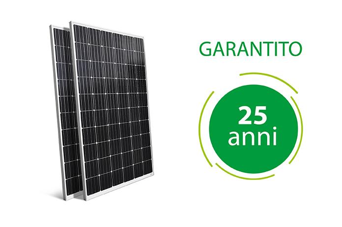 Impianto Fotovoltaico garantito 25 anni