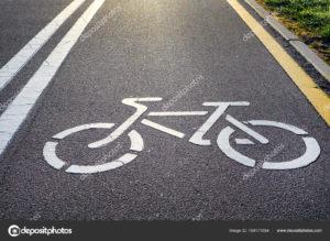 Bicycle lane sign and image o