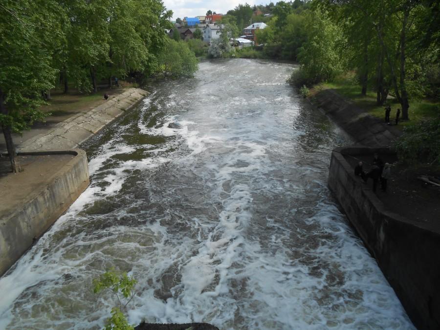 Il fiume Sarno durante il Lockdown
