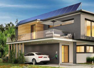 casa con fotovoltaico e auto elettrica